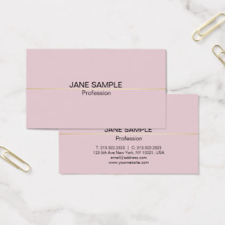 Simple Professional Modern Elegant Design Business Card