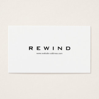 Simple Professional Modern Minimalist White Business Card
