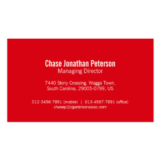 Simple professional red white business cards