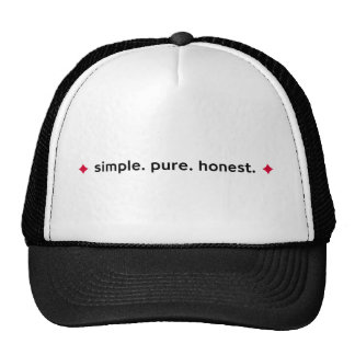Simple. Pure. Honest - Black Baseball Hat