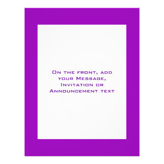 Simple purple flyers