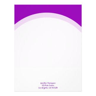 Simple purple letterhead