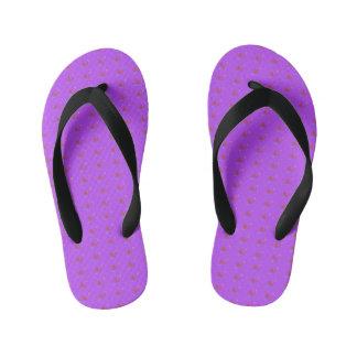 Simple Purple Music Kid's Flip Flops