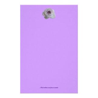 Simple Purple rose Stationery