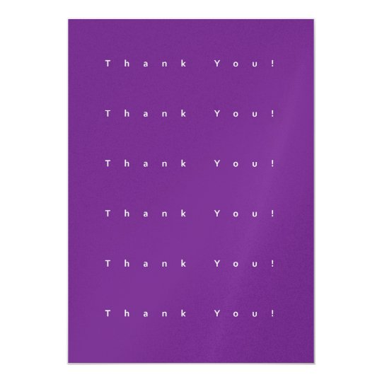 Simple Purple Thank You Card