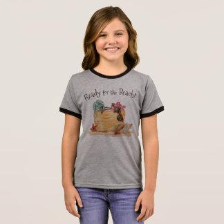 Simple Ready For The Beach Summer Ringer Shirt