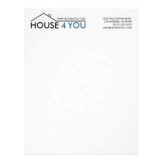 Simple Real Estate House Logo Letterhead