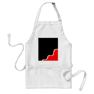 Simple red and black standard apron