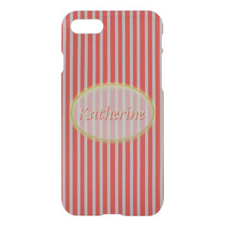 Simple Red and Grey Stripes - Classic Design iPhone 8/7 Case