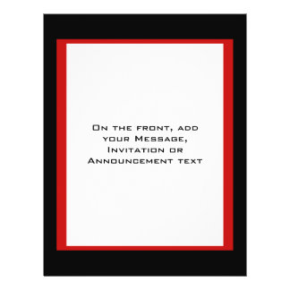 simple red black border personalized flyer