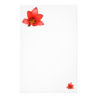 Simple Red Flower Stationery