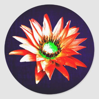 Simple Red Flower Sticker