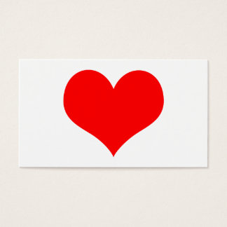 simple red heart business card
