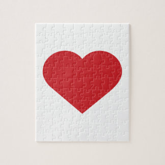 Simple Red Heart  Modern Contemporary Jigsaw Puzzle