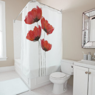 Simple Red Poppy Print
