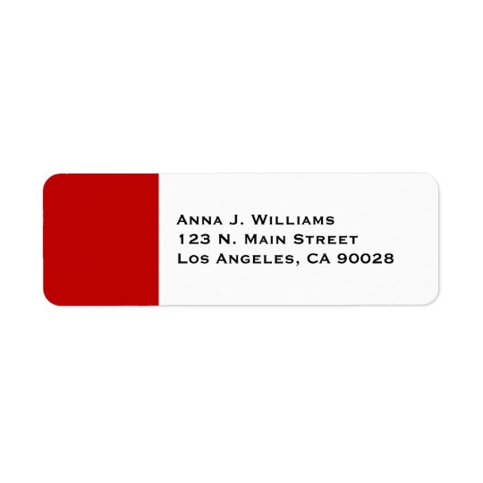 simple red return address label