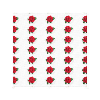 simple red rose tiles canvas print