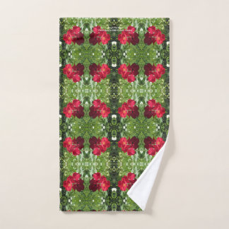 Simple Red Roses hand towel