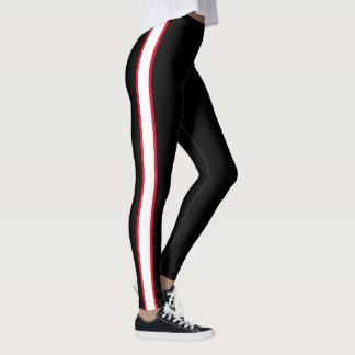 Simple Red/White Stripe Leggings