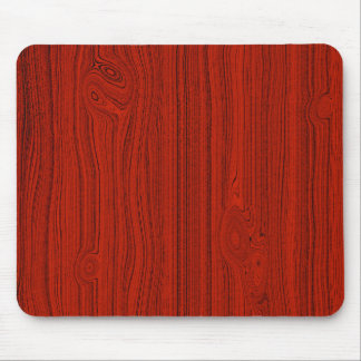 Simple Red Wood Look Grain Pattern Mouse Pad