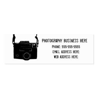 Simple Retro Black Film Camera Business Card