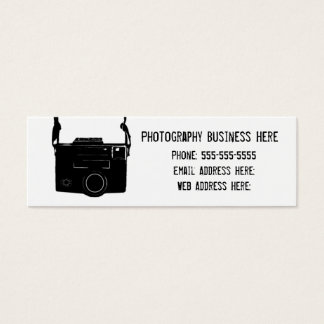 Simple Retro Black Film Camera Business Card