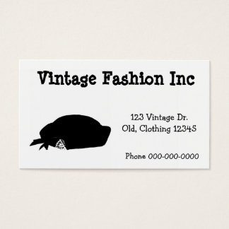 Simple Retro Fashion Artwork Vintage Inspired Business Card