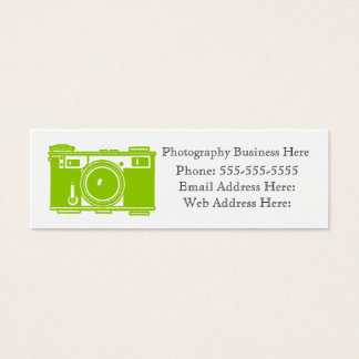 Simple Retro Green Film Camera Business Card