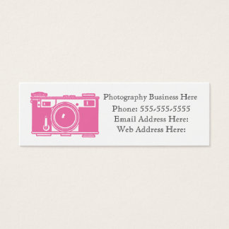 Simple Retro Pink Film Camera Business Card