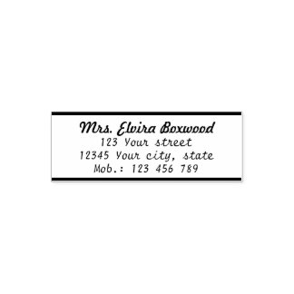 Simple Return Address Label with Lines Self-inking Stamp