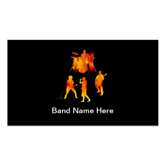 Rock Band Business Cards and Business Card Templates