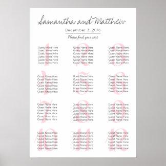 Simple Romantic Blush Wedding | Seating Chart