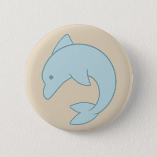 Simple Round Dolphin 2 Inch Round Button