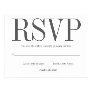 Simple RSVP Postcard