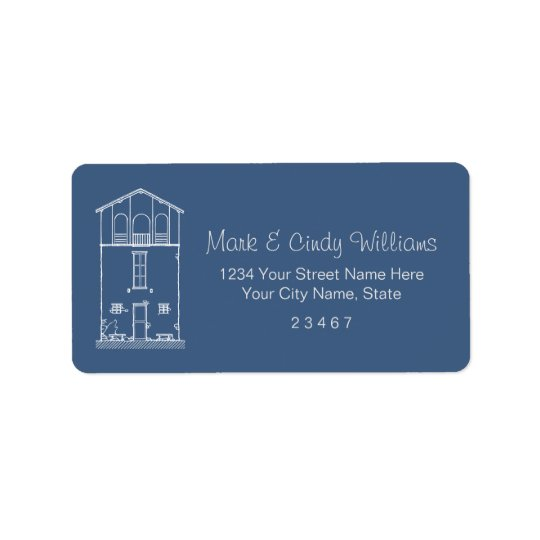 Simple Rustic House Blueprint New Address Moving Label
