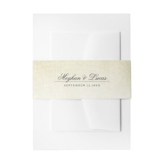 Simple Rustic Wedding Invitation Belly Bands Invitation Belly Band