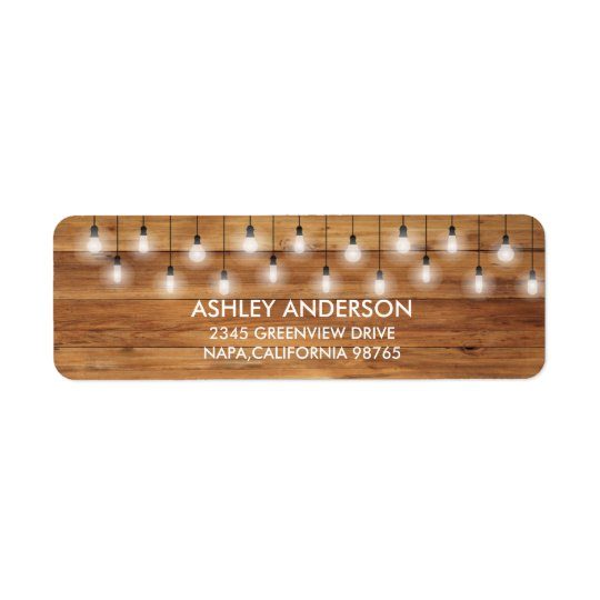 Simple Rustic Wedding Wood Lights