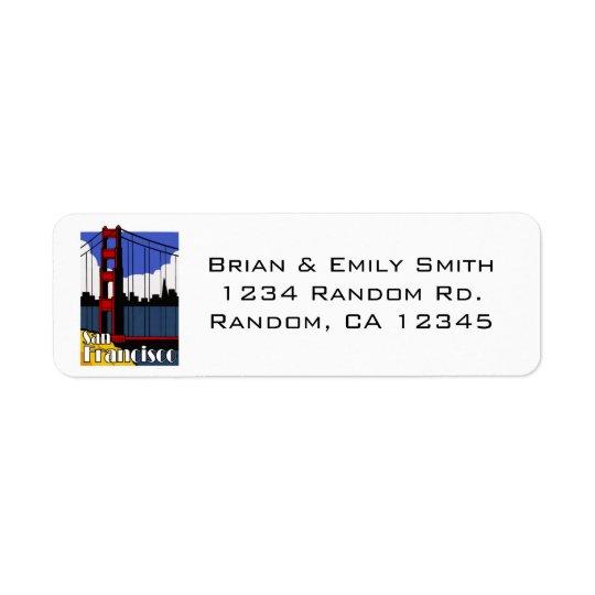 Simple San Francisco golden gate address labels