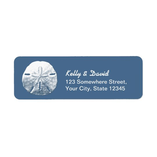 Simple Sand Dollar Navy Blue Return Address Labels