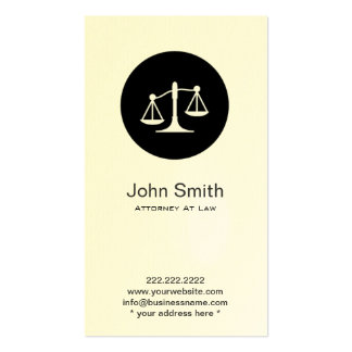 Simple Scales Icon Attorney Lawyer Business Card