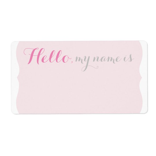 Simple Scalloped Name Tag - Pretty in Pink