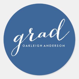 Simple Script in Blue | Graduation Stickers