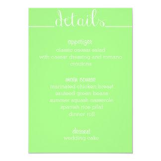 Simple Script Menu Card- lime Card