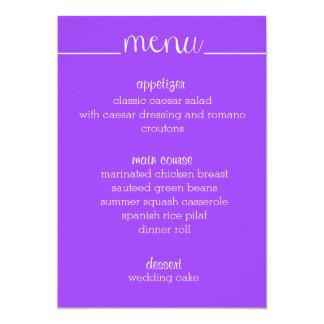 Simple Script Menu Card- purple Card