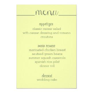 Simple Script Menu Card- yellow Card