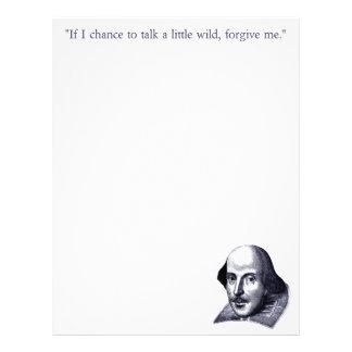 Simple Shakespeare Letterhead