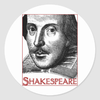 Simple Shakespeare Logo Classic Round Sticker