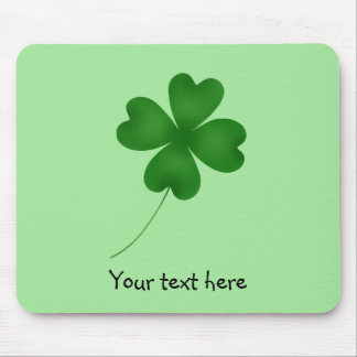 Simple shamrock design mouse pad