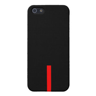 Simple Short Red Line Black Design Iphone 5/5s Case For iPhone 5/5S