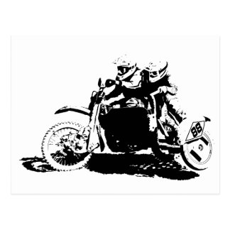 Simple Sidecarcross Design Postcard